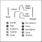 Custom Design Your 2mm Genuine Gemstone Nose Jewelry