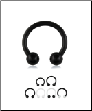 BioFlex Curved Barbell CBB Nose Ring Horseshoe Hoop Choose Your Color & Size 16G