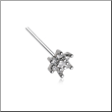 316L Surgical Steel Clear CZ Flower Nose Stud Choose Your Style 20G