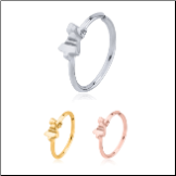 316L Surgical Steel Seamless Nose Ring Helix Daith Ear Cartilage Continuous Hoop Christmas Bell Choose Your Color 20G