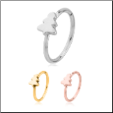 316L Surgical Steel Seamless Nose Ring Helix Daith Ear Cartilage Continuous Hoop Christmas Tree Choose Your Color 20G