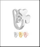 925 Sterling Silver Faux Fake Nose Hugger Clip On Non-Pierced Nose Ring Hearts Clover Choose Your Color