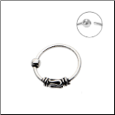 "925 Sterling Silver Nose Ring Tribal Hoop 5/16"" 8mm 20G"