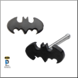 316L Surgical Steel Nose Bone Nose Stud Black Batman Design 20G