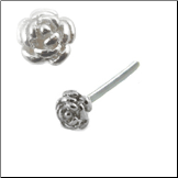 925 Sterling Silver -Choose Your Style 3.5mm Rose 22G