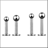 316L Surgical Steel Labret Style Nose Stud - Choose Your Size Ball 18G