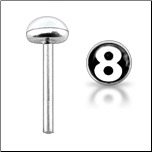 **BLOW OUT SALE** 925 Sterling Silver Nose Stud Straight or L Bend 3mm 8 Ball