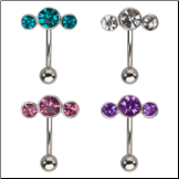 **BLOW OUT SALE** 316L Surgical Steel Navel Belly Button Ring Round Balls 14G