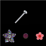 **BLOW OUT SALE** 925 Sterling Silver Mixed Nose Studs 3 Pack 22G