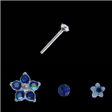 **BLOW OUT SALE** 925 Sterling Silver Mixed Nose Studs Flower and Star 3 Pack 22G