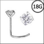Titanium Nose Screw 2.5mm Round CZ 18G