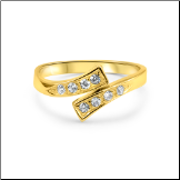 14KT Solid Yellow CZ Gold Toe Ring