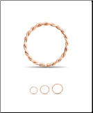 14KT Rose Gold Twisted Seamless Hoop Nose Ring