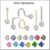 Custom Design Your 3mm Square Nose Jewelry