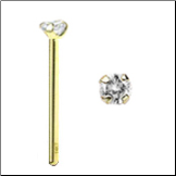 14KT Gold Nose Stud 2mm Real Diamond -Choose Your Style FREE BACKING!!! 20G