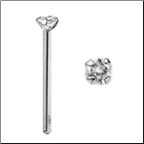 14KT White Gold Nose Stud 2mm Real Diamond -Choose Your Style FREE BACKING!!! 20G