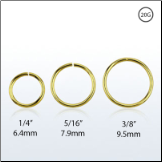 Nose Ring Continuous Seamless Hoop 18KT Gold Plated Sterling Silver -Choose Your Size 20G