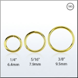 Nose Ring Continuous Seamless Hoop 18KT Gold Plated Sterling Silver -Choose Your Size 18G