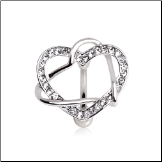 "**BLOW OUT SALE** 316L Surgical Steel Navel Belly Button Ring Top Down Heart CZ 3/8"" 14G"