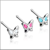 925 Sterling Silver Nose Bone 3mm Butterfly 20G