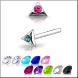 **BLOW OUT SALE** 925 Sterling Silver Nose Studs Pins Straight or L Bend Triangle