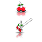 **BLOW OUT SALE** 925 Sterling Silver Nose Studs Pins Straight or L Bend Cherries