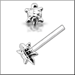925 Sterling Silver Nose Stud Straight or L Bend Silver Turtle