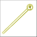 18KT Gold Straight Stud, L Bend, R/L Screw Gold Ball 1.5mm Choose Your Gauge
