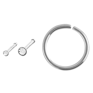 Blow Out Sale Nose Bone Hoop Ring Steel Mixed 3 Pack 18g