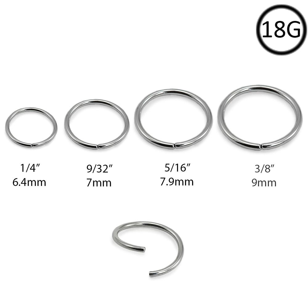 Nose Ring Hoop Sizes