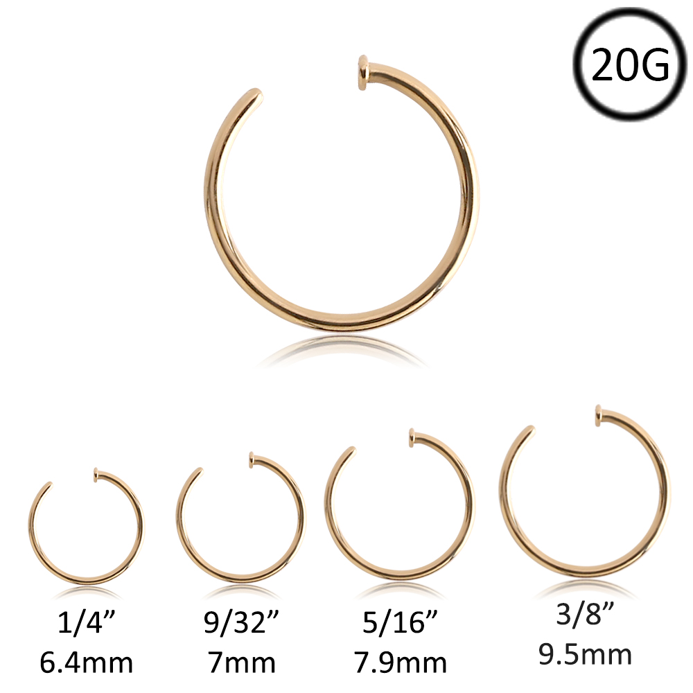 Nose Ring Gauge Size Chart