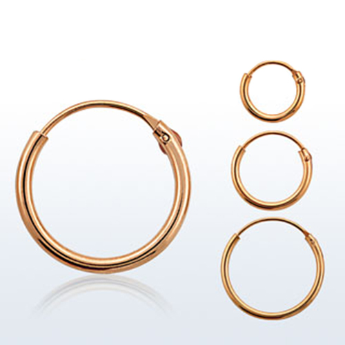 Hinged Nose Ring Hoop Rose Gold Plated Sterling Silver Choose Your