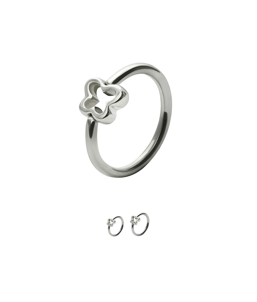 316l Surgical Steel Butterfly Captive Bead Nose Ring Tragus Ear