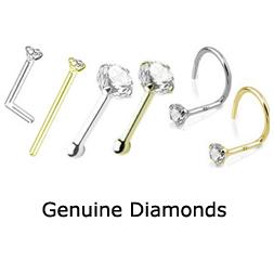 Genuine Diamond Nose Jewelry Rings