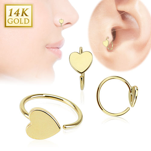 Brand New Solid Gold Hoops for Nose Daith and Ear Cartilage Piercings