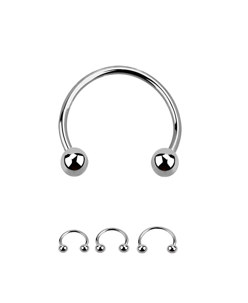 316l Surgical Steel Circular Barbell Horseshoe Septum Ring Choose