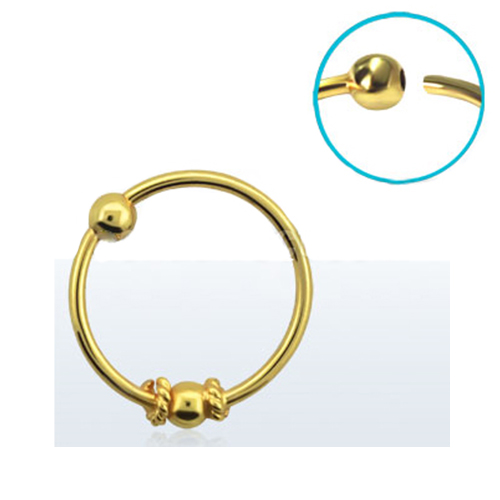 18kt Gold Plated Nose Hoops Captives With Style