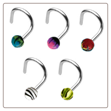 **BLOW OUT SALE** 316L Surgical Steel Nose Screw 3.5mm Ball -Choose Your Color 18G