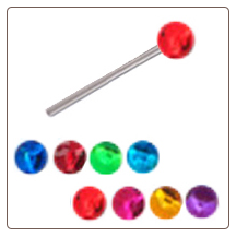 **BLOW OUT SALE** 925 Sterling Silver Straight or L Bend Nose Stud -Choose Your Color 3.5mm Ball