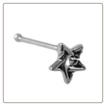 **BLOW OUT SALE** 925 Sterling Silver Nose Bone Silver 4.5mm Star