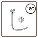 Titanium Nose Screw 1.5mm Round CZ 18G