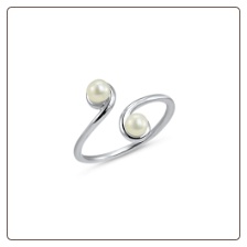 925 Sterling Silver Pearl Toe Ring