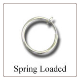 925 Sterling Silver Fake Nose Ring Hoop 5/16""