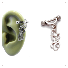 **BLOW OUT SALE** 316L Surgical Steel Ear Cartilage Helix Shield Jewelry Gecko 16G