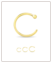14KT Yellow Gold Open Hoop Nose Ring
