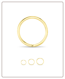14KT Yellow Gold Seamless Hoop Nose Ring