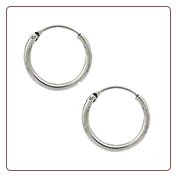 **BLOW OUT SALE** 925 Sterling Silver Earrings Hoop 13mm