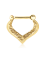 "18K Solid Yellow Gold Hinged Septum Clicker Tear Drop 5/16"" 16G"