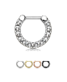 "100% Surgical Steel Hinged Septum Clicker 5/16"" 16G"