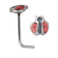 **BLOW OUT SALE**  316L Surgical Steel L Bend Ladybug 20G